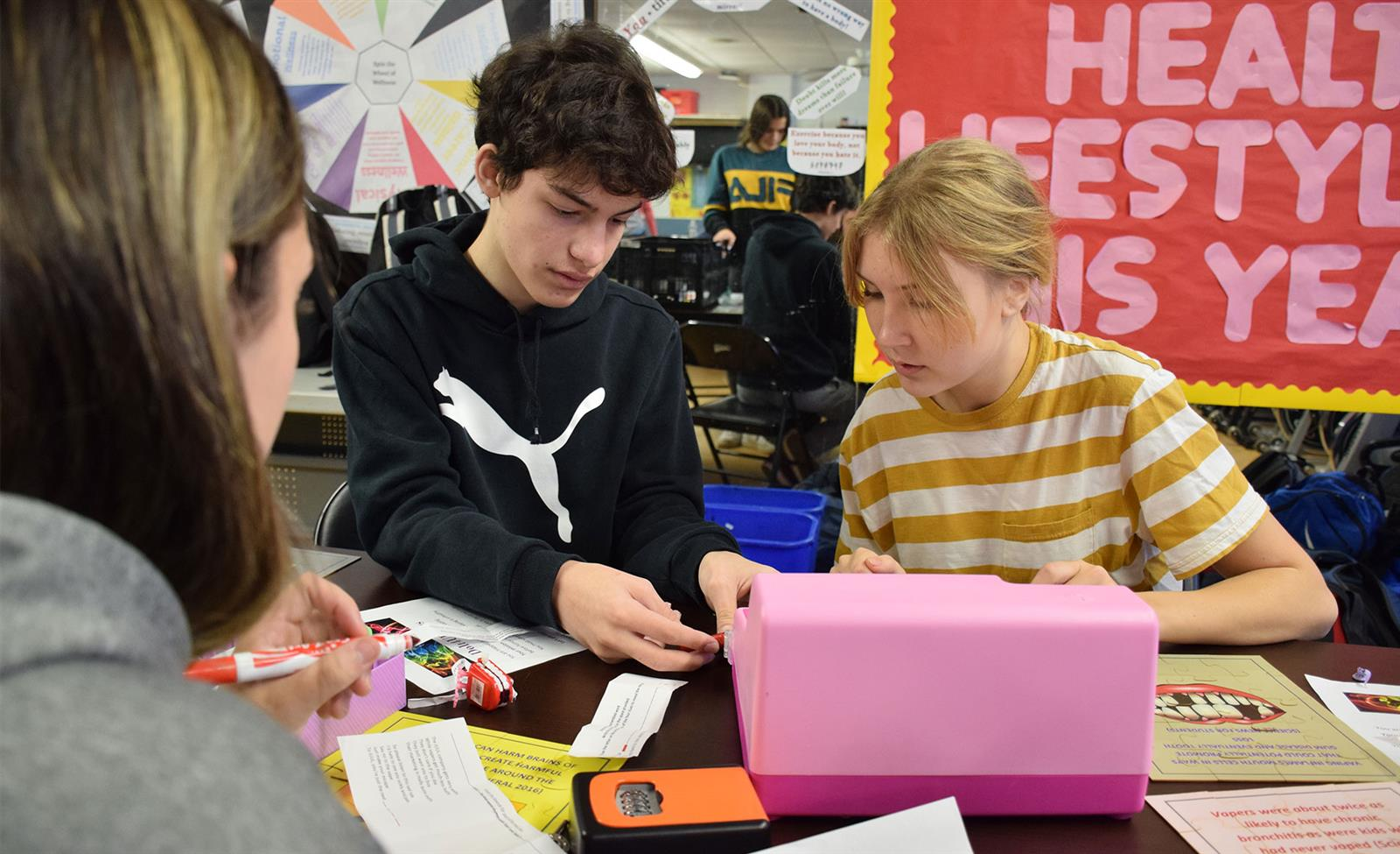 Students 'Escape the Vape' at Rye Neck High School