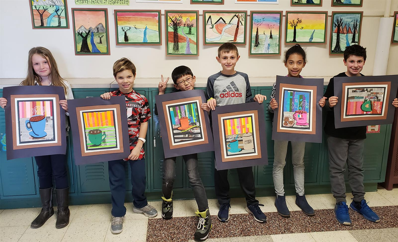 Rye Neck Students Display Artwork at Library Exhibit photo