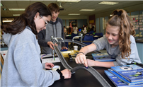 Seventh Graders Build Roller Coasters photo